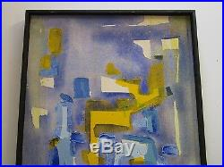 Vintage Abstract Expressionism Painting Non Objective Art Pop Expressionist MCM