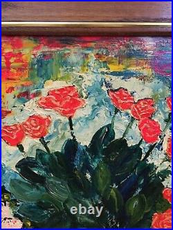 Vintage Abstract Modern Impressionist Oil Painting Still Life