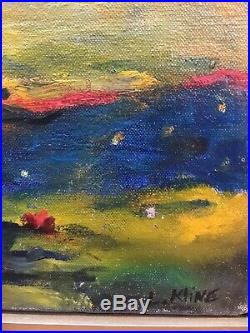 Vintage Abstract Oil Painting