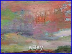 Vintage Abstract Oil Painting Signed A-d Morgenstein Morgenstern Morganstern