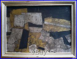 Vintage Abstraction Abstract Mixed Media Foil Modernism MID Century Modern Mod