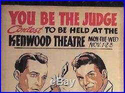 Vintage Advertising Frank Sinatra Bing Crosby Original Painting Theater Poster