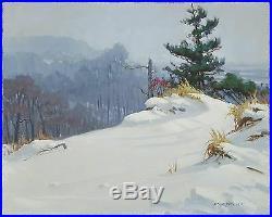 Vintage American Impressionist David Tutwiler Rockport Ma Indiana Dunes Painting
