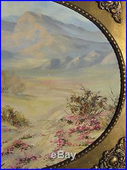 Vintage American Impressionist Oil Painting Palm Springs Ca Desert Western Art