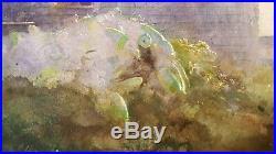 Vintage American Realism Paul Niemiec Ma Monhegan Me Fishermen's Light Painting