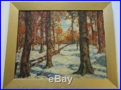 Vintage Antique Mystery Painting American Impressionism Landscape Woods Forest