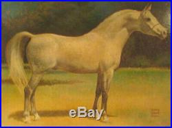 Vintage Antique Rodney Robert Stone Horse Oil Painting On Board Signed