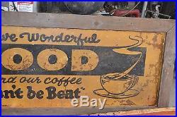 Vintage / Antique Sand Paint Restaurant Food Sign