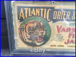 Vintage Atlantic Drier & Varnish Co. Sign Framed Varnishes Paint New York
