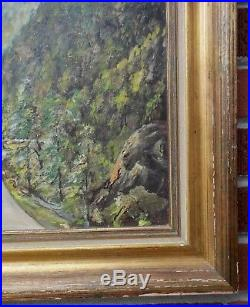 Vintage BLUE RIDGE PARKWAY Mountains Oil PAINTING Frame by Walker FOSTTER c1950