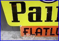 Vintage BPS PAINT SIGN Flatux Satgent Porcelain Double Sided original RARE