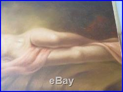 Vintage Beautiful Nude Women Titanic Style Framed Oil Painting SIGNED