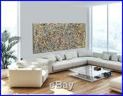 Vintage Beauty 102 Painting 72 Jackson Pollock Style Abstract Art canvas