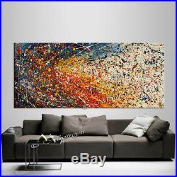 Vintage Beauty 115 Painting Abstract art Jackson Pollock style 72 on Canvas