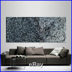 Vintage Beauty 121 Painting Jackson Pollock Black White Abstract Art
