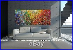 Vintage Beauty Jackson Pollock Drip Style Bright Home Decor Painting