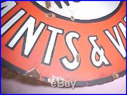 Vintage COOK'S PAINTS & VARNISHES METAL double sided sign -RARE vgc some rust