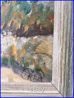 Vintage California Plein Air Landscape, Oil on Board, Signed, by REA