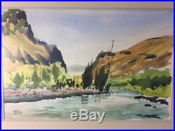 Vintage Charles Mulvey US Oregon/Washington Artist Signed Original Watercolor