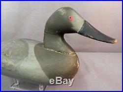 Vintage Charlie Bryan Canvasback Decoy Orig Paint Signed 1965 Middle River MD