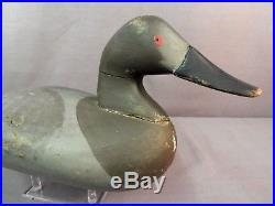 Vintage Charlie Bryan Canvasback Decoy Orig Paint Signed 1965 Middle River MD
