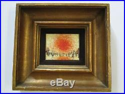 Vintage Chunky Painting Abstract Expressionism Small Gem Modernism Mystery Art