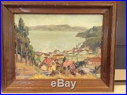 Vintage Coastal Scene (1940's) Signed E C Fortune