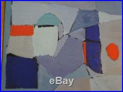 Vintage Contemporary Abstract Painting Non Objective Modernism Cubist Cubism