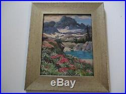 Vintage Contemporary California Landscape Sierre Splendor By Stevenson Mountains