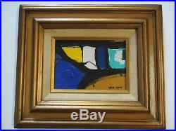Vintage Contemporary Painting Abstract Expressionism Signed Walker Modernism