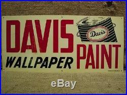 Vintage Davis Paint Sign Antique Old Metal Wallpaper