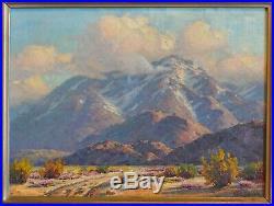 Vintage Desert Landscape Painting San Jacinto Mtn Palm Springs CA Paul Grimm