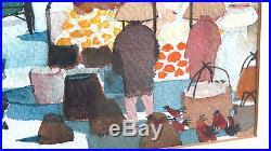 Vintage Dong Kingman Original Watercolor Signed & Framed