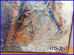 Vintage Early Modernist Signed Textured Oil Painting