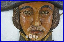Vintage English Pub Tavern Bar Sign Painted Wooden Admiral's Head Ale Nautical