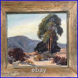 Vintage Fay McCulloch California Impressionist Oil Painting Plein Air 18 x 19