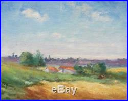 Vintage French Oil Painting Impressionist Landscape South of France Signed 1947