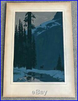 Vintage George Frederick Mannel(1874-1961) Original Gouache Painting On Board
