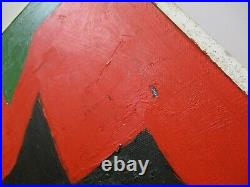 Vintage Gerald Rowles Painting Expressionist Modernist California Abstract Art