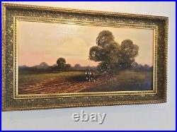 Vintage Gilt framed original signed oil painting on Canvas