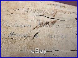 Vintage Goose Decoy Signed Madison Mitchell -Original Paint -Havre de Grace MD