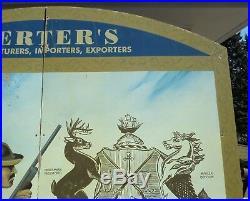 Vintage HERTER'S 8'x8' DUCK HUNTING STORE DISPLAY SIGN Frank P. Hoffman Painting