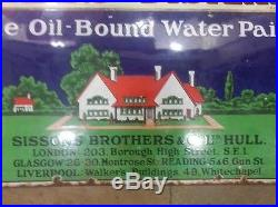 Vintage Hall's Distemper House oil water Paint Color Enamel Sign Made England