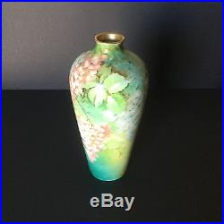Vintage Hand Painted Porcelain Ginori Italy12.5Floral Vase #169 Artist Signed