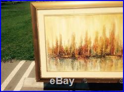 Vintage Impressionist Cityscape (New York) Oil Painting- mid-century by Kobota