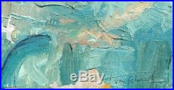 Vintage Impressionist French Oil on Canvas of Figure of Woman Signed Von Schmidt