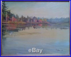 Vintage Impressionist Landscape Oil Painting O/b Signed Lee Smith 1981