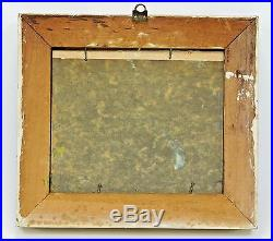 Vintage Irene Clair Stry Small Oil Board Townscape Painting Framed Signed ONB