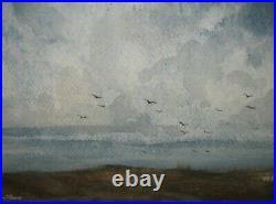 Vintage JOSEPH LC SANTORO'Ocean Spray' COASTAL Landscape Painting Listed