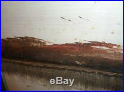 Vintage James Gibson Original Florida Highwaymen Signed Oil on Board Canal Scene